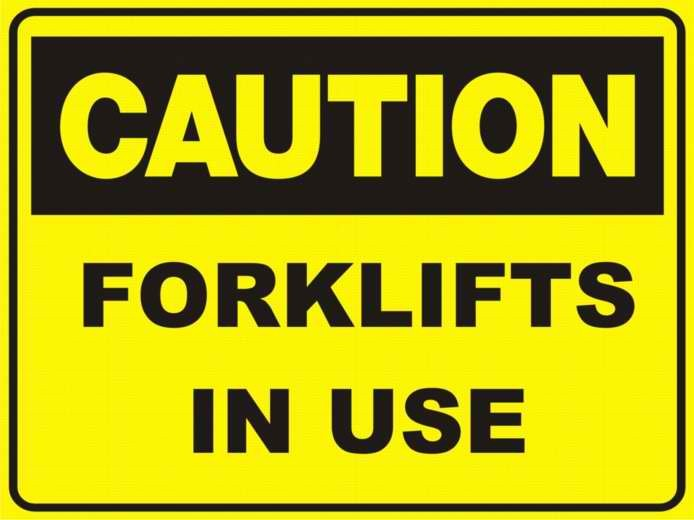Fork lifts in Use