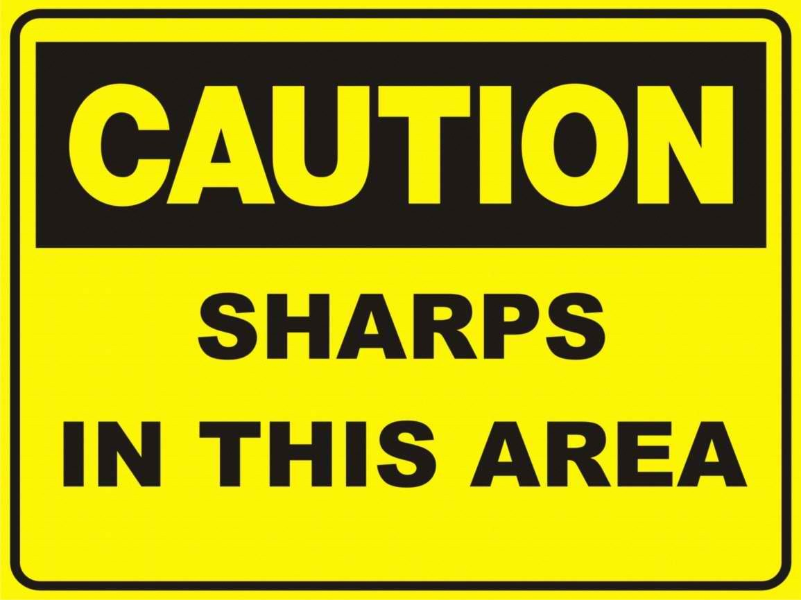 Sharps in this area